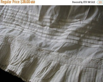 Valentine SALE Victorian 1850's Infant Christening Under Slip Tucks, Pleats and Lace Insert