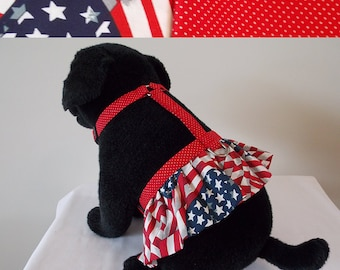 Dog Harness with Ruffle. Fully adjustable harness. R1