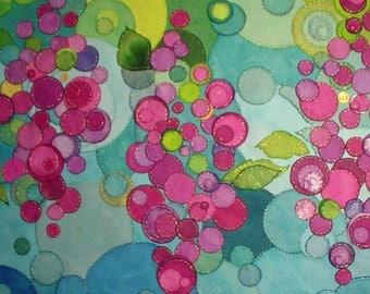 Modern paper art, First Anniversary, Wine art, Sewn paper art, Belle Moderne