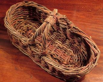 Vintage Rustic Wicker Basket Small
