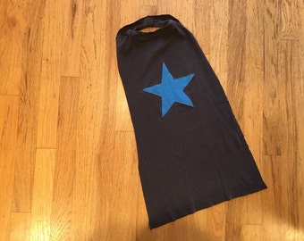 Navy Blue Kids Super Hero Cape with Blue Star