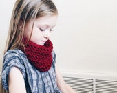 Toddler Infinity Scarf Red