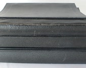 vintage notebooks, ring binders, journals, group of 5, black, from Diz Has Neat Stuff