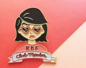 RBF Resting Bitch Face Enamel Lapel Pin