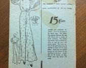RESERVED** Advance 1012 Authentic 1930s Beach Pyjama with Balloon Sleeves Pajama Loungewear Sleepwear