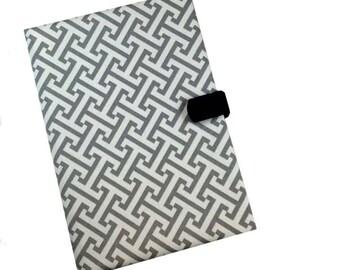Ipad Pro iPad Case 2 3 4 5 Mini Hard Case iPad Cover, iPad Sleeve, i Pad stand up iPad mini Gray Geometric Camera Hole Leather