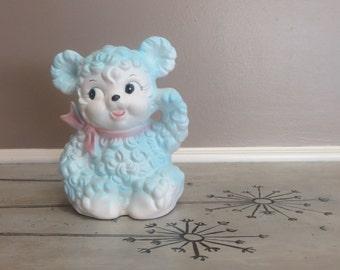 Rubens Originals Planter Rubens Japan Bear Planter Baby Blue Teddy Bear Vintage Planter Ceramic Planter Baby's Room Decor