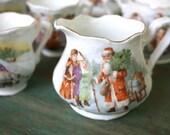 Christmas Children's Tea Set, Christmas China, Children's Ten Piece Tea Set, Santa Claus Tea Set, Christmas Gift