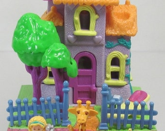 1994 Vintage Polly Pocket Giraffe House Bluebird Toys (38663)