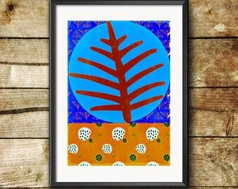 Leaf Abstract Original Art Print