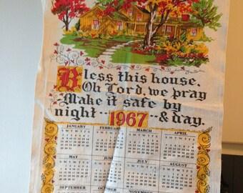 1967 Cloth Calendar - Bless this House