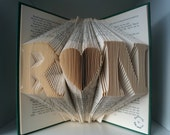 1st wedding anniversary-Initial Folded Book Art-wedding decor/gift for him/her-gift for couple engagement