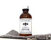 Organic Shaving Oil for Men in North Star Fragrance 2 oz. Pre-Shave Oil Gift  Bag