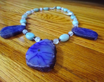 Agate and Gemstone Necklace