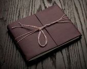 Large Purple Leather Journal or Leather Sketchbook, Valentines Day Gift For Her, Large Sized, Handbound Coptic Stitch Photo Book
