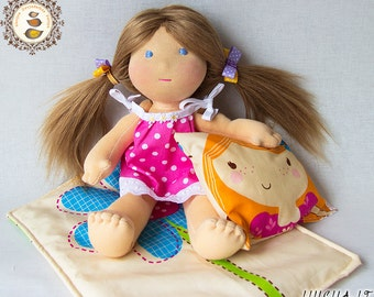 Waldorf inspired doll Elza