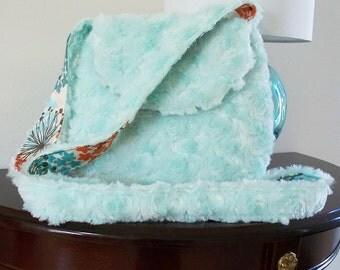 Furry Small Bag Purse mint green faux fur