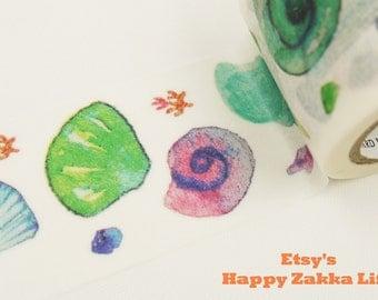 Colorful Shells - Japanese Washi Masking Tape - 30mm Wide - 7.6 Yards