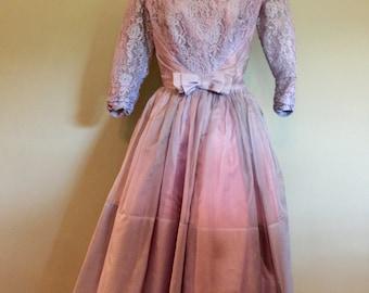 Formal 1950's Dress, size XS/S