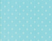 Blue Polka Dot Fabric - Wing & Leaf by Gina Martin from Moda - Fat Quarter