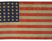 Vintage American Flag Image with 36 stars, digital download