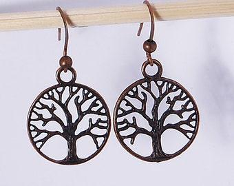 Bronze Tree of Life Earrings