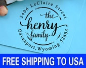 Return Address Stamp, Personalized Self Inking Address Stamp, Custom Calligraphy Wedding Stamp, Personalized Stamp 196