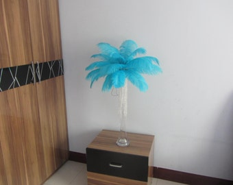 100pcs Aqua/Light Turquoise ostrich feather for wedding table centerpiece wedding table decoration