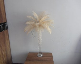100pcs Off White Cream ostrich feather for wedding table centerpiece wedding table decoration