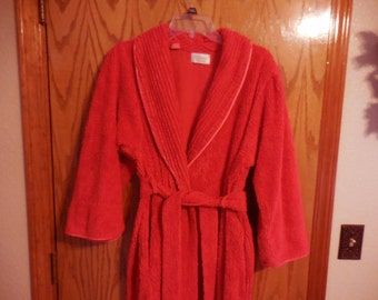 Vintage Victoria Secret RED Chenille ROBE - Small - Pretty Victoria Secret Vintage Chenille BATHROBE - Free Shipping