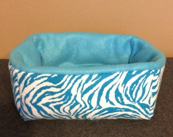 Zebra Rectangle Small Animal Bed