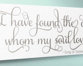 Wood Sign 10x24 Whom My Soul Loves Song of Solomon no vinyl