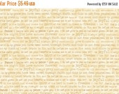 on SALE THRU 8/21 EXPRESSIONS Of Faith tan words on cream by Quilting Treasures 100% cotton quilt fabric Christian Bible Verses, Scripture