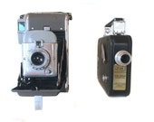Vintage Camera Collection-Polaroid Camera Model 80 + Cine-Kodak eight - 25 Movie Camera Photographer Gift