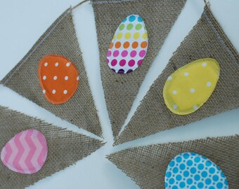 Colorful Polka Dot Easter Egg Bunting/Banner/Pennant