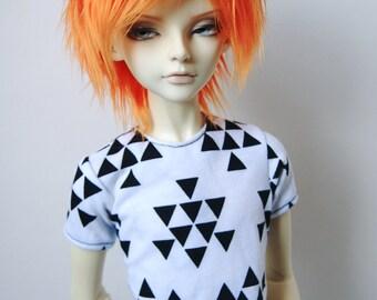 60cm / SD13 BJD Boy Black & White Triangle T-shirt