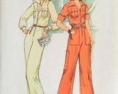 Simplicity 7310 Misses' Jumpsuit Pattern, UNCUT, Size 10, Vintage 1975, Retro, Flashback, One-Piece, Fashion, Fun