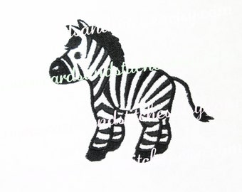 Zebra Embroidery - Baby Embroidery Design - Embroidery - Machine Embroidery - Instant Download - Two Sizes 4x4 and 5x7 - Seven Formats