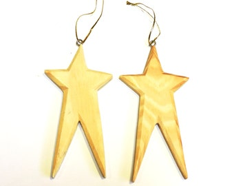 Unfinished Wood Primitive Star Ornament, Wooden Blank Shape Cut Out to Paint Stain Stencil Decorate, Patriotic Craft Supply itsyourcountry