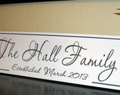 Wedding Last Name Sign Personalized Family Established  Sign Carved Wedding Gift  Anniversary Shower Gift