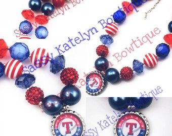 Texas Rangers Chunky Necklace