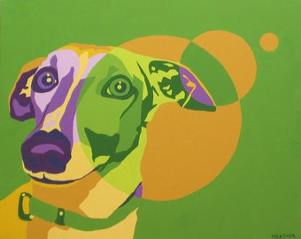 Italian Greyhound, Greyhound Art - Jill