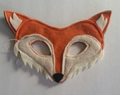 Kid's Reversible Fox Felt Mask