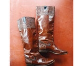 JULY SALE / vintage Bally brown leather boots / size 7.5