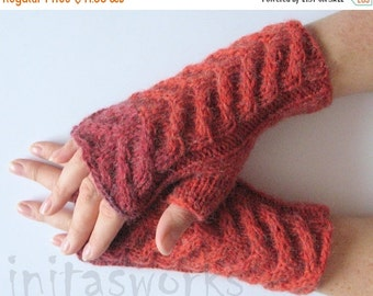 Fingerless Gloves Red Burgundy wrist warmers