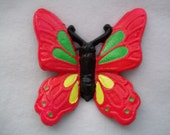 Cast Iron Butterfly / Monarch Butterfly / Home Decor / Blacklight / Pink / Yellow / Green