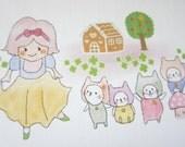 letter paper / Snow white