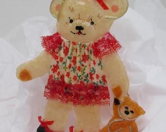 Little Teddie with her littler teddy