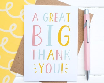 Thank you card - Thank you gift - Thank you greetings card - Appreciation Card - Thanks Card - Gratitude Card