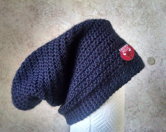 Crocheted Chicago Bull's Slouchy Hat